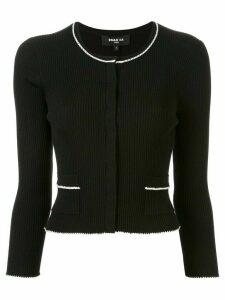 Paule Ka contrast piping cardigan - Black
