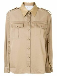 Ports 1961 flap-pocket military shirt - Brown