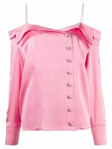 Balmain buttoned silk shirt - PINK