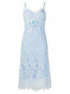 Ermanno Scervino lace embroidered midi dress - Blue