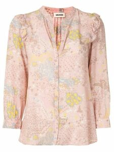 Zadig & Voltaire Glam Rock print shirt - PINK