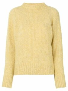 The Row Cera mélange high-neck jumper - Yellow
