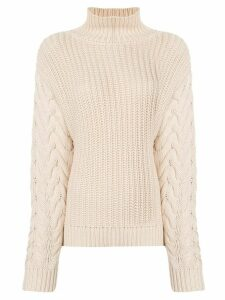 Sir. Ava high neck jumper - NEUTRALS