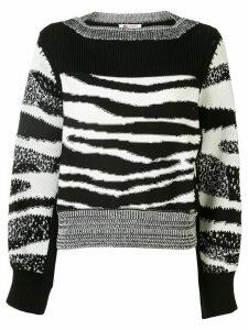 Ports 1961 split-arm jacquard sweater - Black