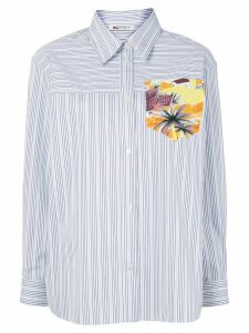 Ports 1961 pinstriped patch-pocket shirt - White