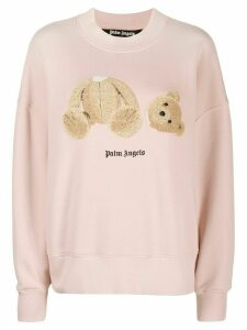 Palm Angels Bear print sweatshirt - PINK