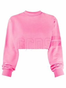 Gcds cropped raw edge jumper - PINK