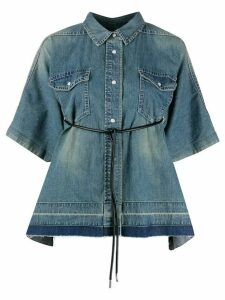 Sacai oversized denim shirt - Blue