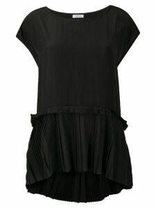 P.A.R.O.S.H. pleated detail asymmetric hem blouse - Black