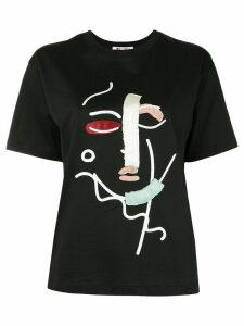 Ports 1961 abstract face T-shirt - Black