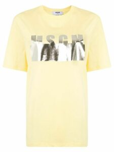 MSGM logo-print oversized T-shirt - Yellow