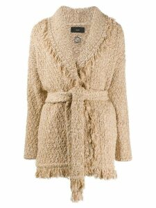 Alanui fringed edge cardigan - NEUTRALS