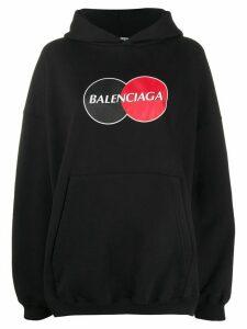 Balenciaga Large Fit Hoodie - Black