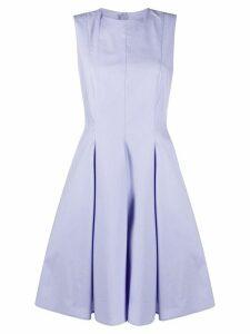 Paule Ka flared style pleated detail dress - PURPLE