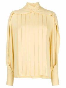 The Row Gilia pleated silk blouse - Yellow