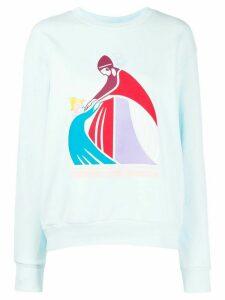 LANVIN logo print sweatshirt - Blue