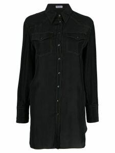 Brunello Cucinelli long-line shirt - Black