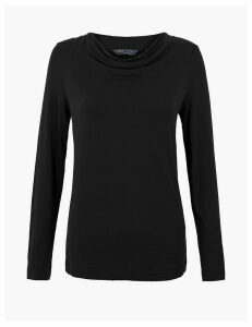 M&S Collection Cowl Neck Regular Fit Long Sleeve Top