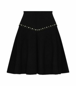 Sandro Paris Embellished Knit Skirt