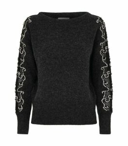Sandro Paris Jewel Embellished Sweater