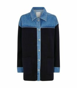 Sandro Paris Denim Design Overshirt