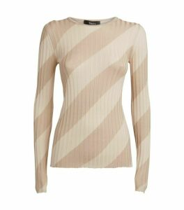 Theory Long-Sleeved Ribbed Top