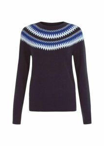 Greta Sweater Navy Multi