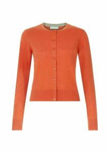 Marley Merino Wool Blend Cardigan Poppy Orange