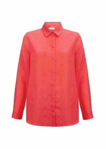 Rosella Linen Shirt Flamingo Pink