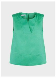 Linen Ilona Top Paradise Green