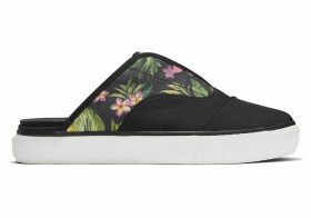 TOMS Black Multi Floral Woven Women's Cordones Indio Mule Slip-Ons Shoes - Size UK8