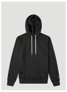 Rick Owens x Champion Oversized Hooded Sweatshirt in Black size L