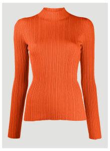 Acne Studios High-Neck Ribbed Sweater in Orange size L