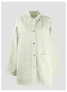 Acne Studios Jacquard Denim Jacket in Green size FR - 38