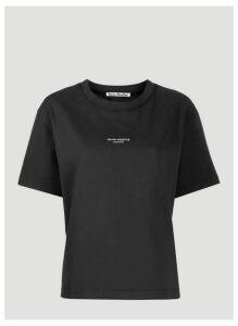 Acne Studios Reverse-Logo T-Shirt in Black size L