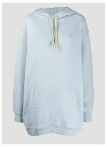 Acne Studios Reverse-Label Hooded Sweatshirt in Blue size M