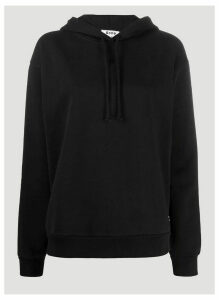 Acne Studios Contrast-Panel Hooded Sweatshirt in Black size L