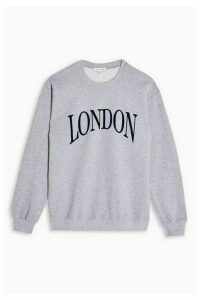 Womens Grey Marl London Sweatshirt - Grey Marl, Grey Marl
