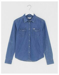 Lee Regular Western shirt in mid blue