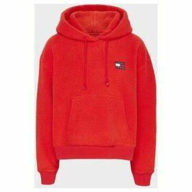 Tommy Jeans  DW0DW07806 POLAR FLEECE  women's Sweatshirt in Red