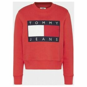 Tommy Jeans  DW0DW07414 FLAG CREW  women's Sweatshirt in Red