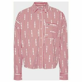 Tommy Jeans  DW0DW07618 LOGO STRIPE  women's Shirt in Red
