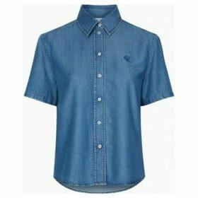 Calvin Klein Jeans  J20J213616 INDIGO TENCEL  women's Shirt in Blue