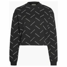 Calvin Klein Jeans  J20J212950 DIAGONAL LOGO  women's Sweatshirt in Black