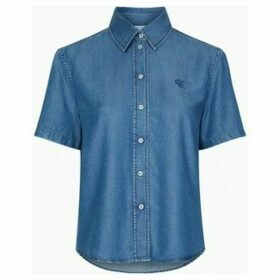 Calvin Klein Jeans  J20J213616 INDIGO TENCEL SHIRT Women INDIGO  women's Shirt in Blue