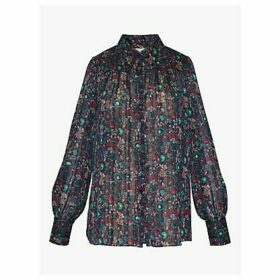 Gerard Darel Maxine Paisley Print Chiffon Shirt, Multi