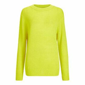 Theory Linen Blend Jumper, Bright Lime