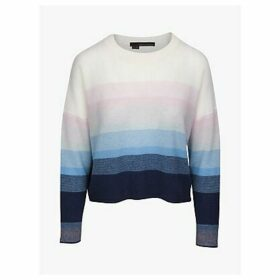 360 Sweater Russet Ombre Stripe Jumper, Navy/Capri
