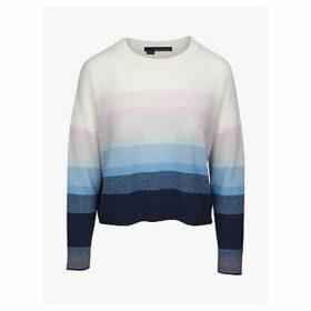 360 Sweater Russet Ombre Stripe Jumper, Navy/Capri