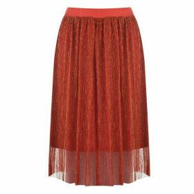 Blake Seven Sparkle Midi Skirt - 2 Orange